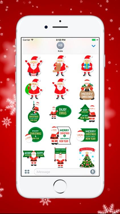 Рождество и Новый Год - стикеры для iMessage