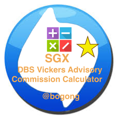 Commission Calculator for SGX DBS Vickers Advisory