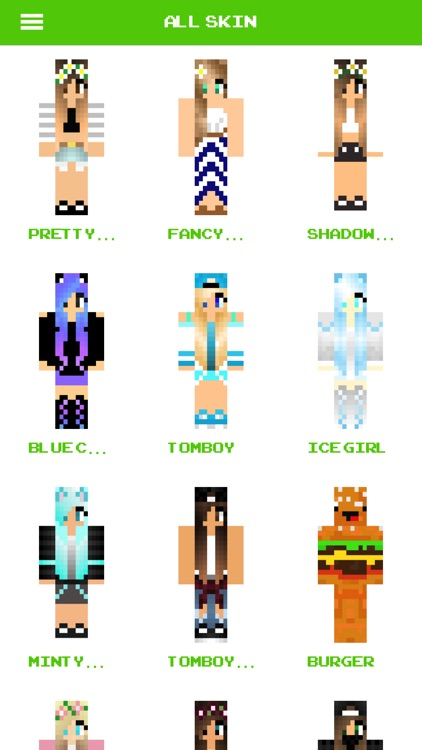 Girl Skins For Minecraft - Huge of skin gaming