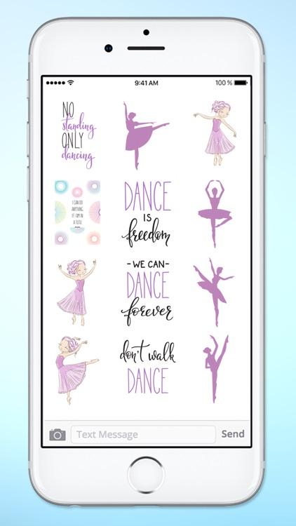 I Love Dance Ballet Sticker Pack screenshot-4