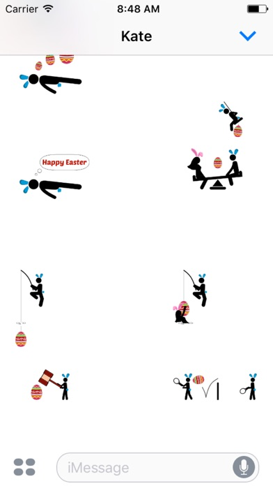 Animated Easter Stickmen