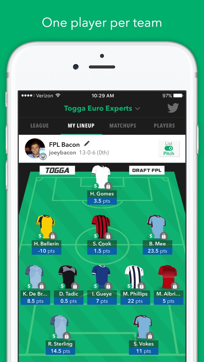 Togga - Draft Fantasy Soccer for Premier League Screenshot