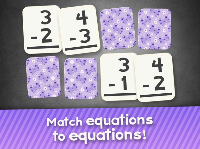 Subtraction Flash Cards Match Math Games for Kids Screenshot