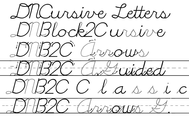 DN Cursive Fonts | From Michel Bujardet