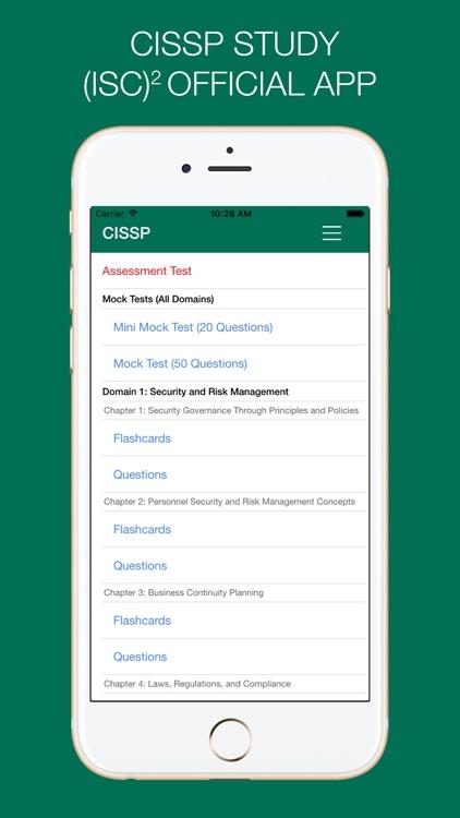 CISSP Study - (ISC)² OFFICIAL APP screenshot-0