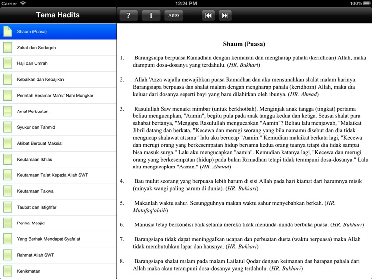 Paket Hadits for iPad screenshot-3