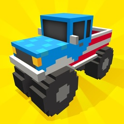 American Truck Blocky Style: Highway Traffic Rush