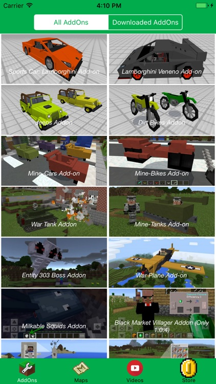 CAR & BIKE ADD ONS FOR MINECRAFT PE GAMES