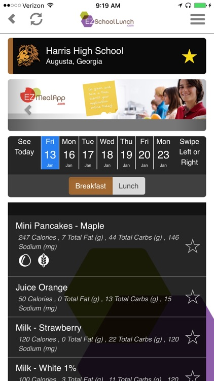 EZSchoolLunch screenshot-2
