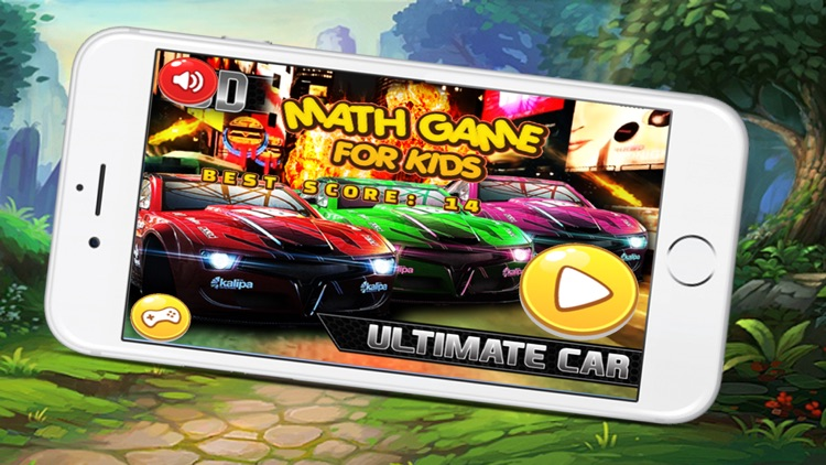 Math Game For Kids with magic racing