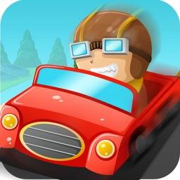 Real Auto Drag Car Racing Track!