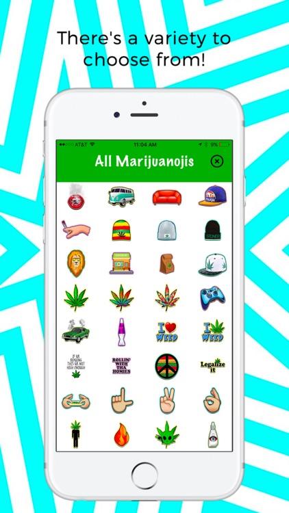 Marijuanoji - weed emoji keyboard screenshot-3