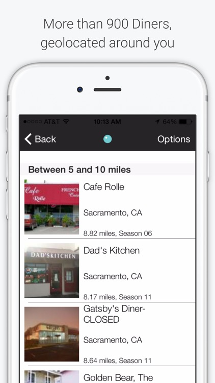 Diners & Drive-Ins TV Unofficial Guide app image