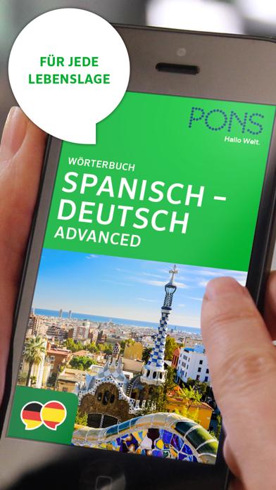 Wörterbuch Spanisch - Deutsch ADVANCED von PONSのおすすめ画像1