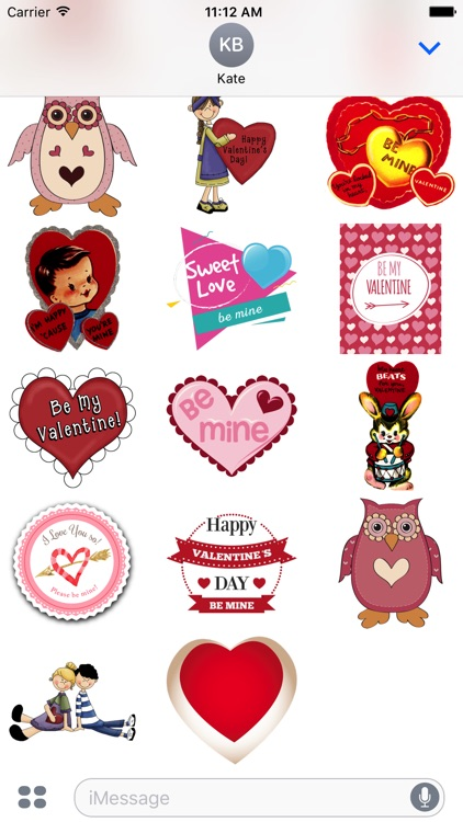 Valentine Stickers #1 for iMessage