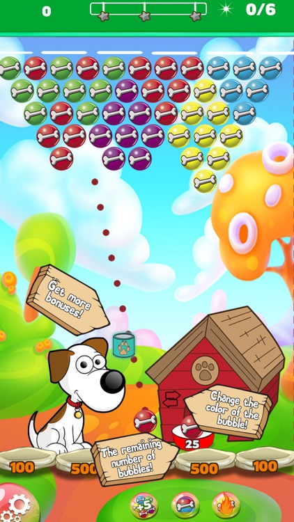 Dog bone Bubble Shooter