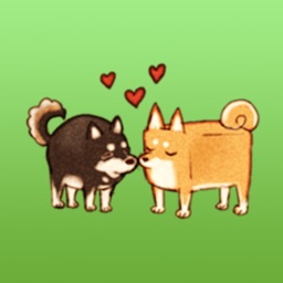 Square Dog And Round Dog - Two Lovely Dogs Sticker