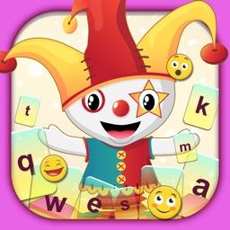 Cute Cartoon Color Keyboard Themes Emoji & Layout