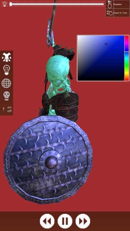 3D Pose Drawing : Fantasy Skeleton Warrior screenshot-4