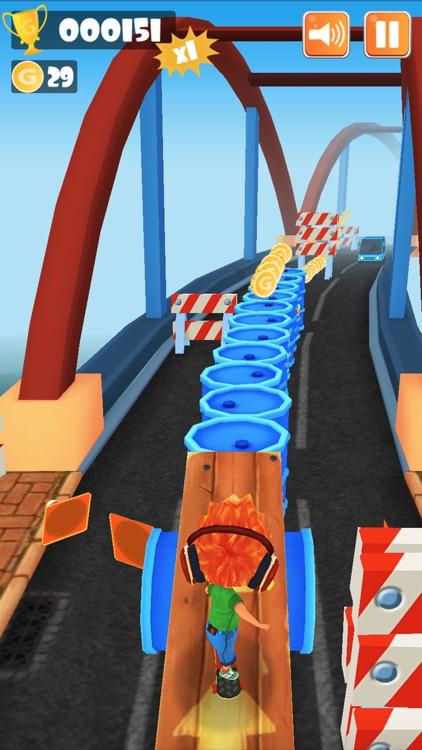 街头跑酷3D -在地铁,在公路尽情滑板冲刺酷跑!