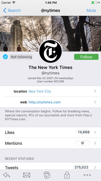 Tweetings - Twitter Client for iPhone