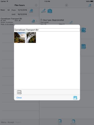 Screenshot of FlexHours