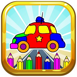 Coloring Book Cars and Trucks For Kids Game