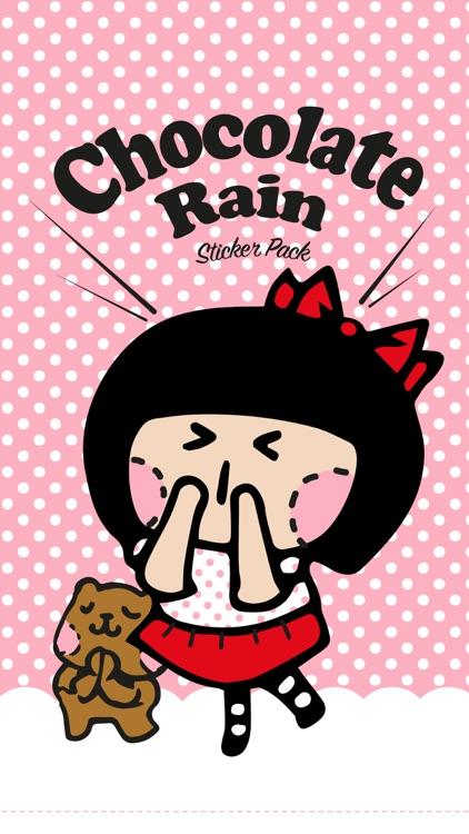 Romance Chocolate Rain Stickers screenshot-3