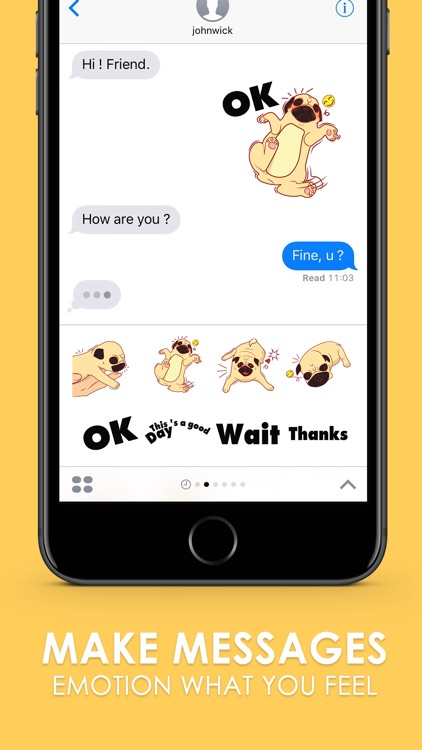 PUG PUG Stickers & Emoji Keyboard By ChatStick