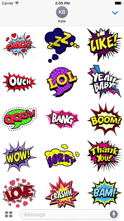 Comics Pop Art Stickers screenshot-1