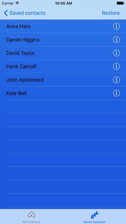 Contacts backup - easily backup & restore contacts screenshot-3