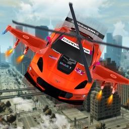 Futuristic Robot War Car: Drone Pilot Simulator