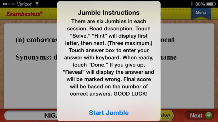ACT Prep Verbal Vocabulary Flashcards Exambusters screenshot-3