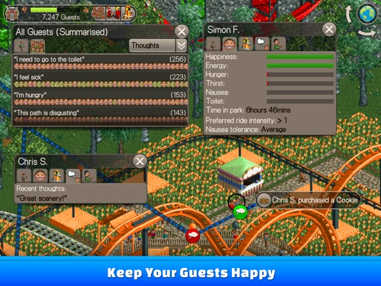 Screenshot #2 for RollerCoaster Tycoon® Classic