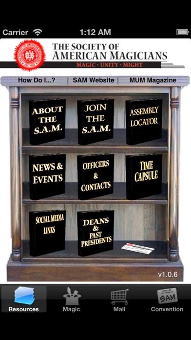 MagicSAM - Society Of American Magicians screenshot