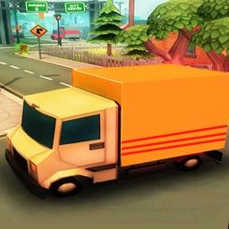 3D Postal Delivery Van