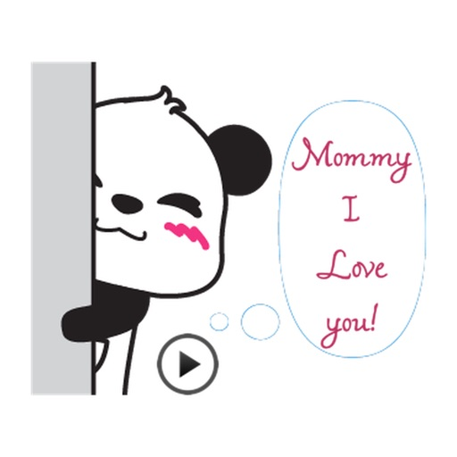 Animated Panda Happy Mother's Day Sticker