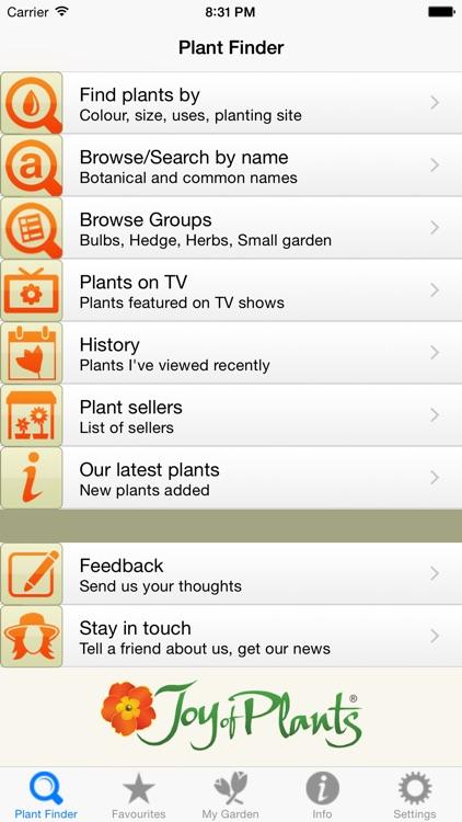 Joy of Plants Plant Finder