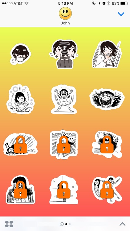 Rich Classic Girl at Home Stickers