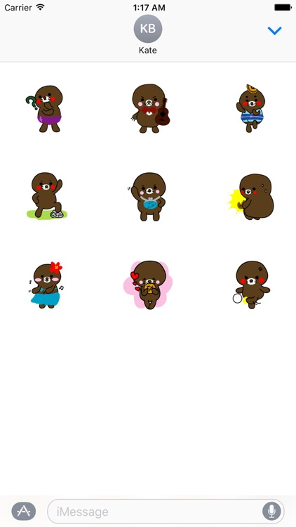 Lovely Brown Mole Stickers