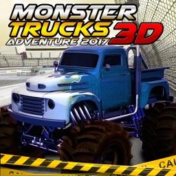 Monster Truck Adventure Parking 3D Games
