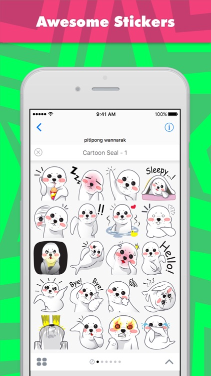 Cartoon Seal - 1 stickers by wpitipong