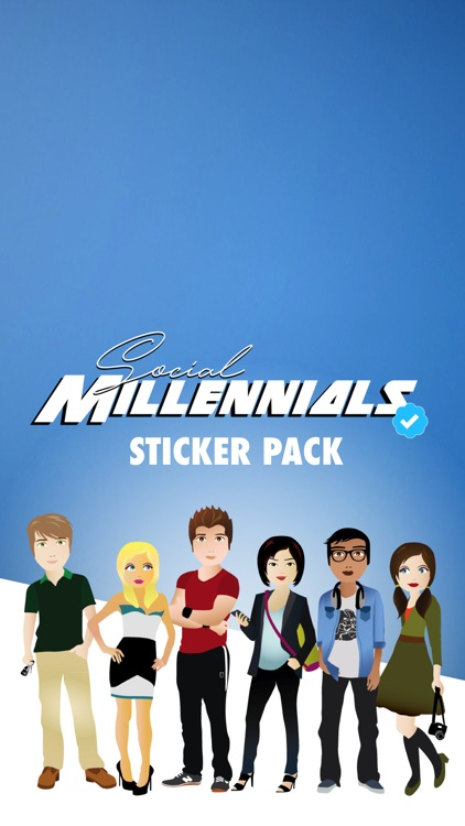 Social Millennial Stickers screenshot-0