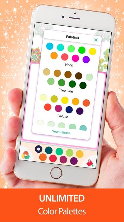 Adult Coloring Book - Mandala Pigment Color Pages screenshot-3