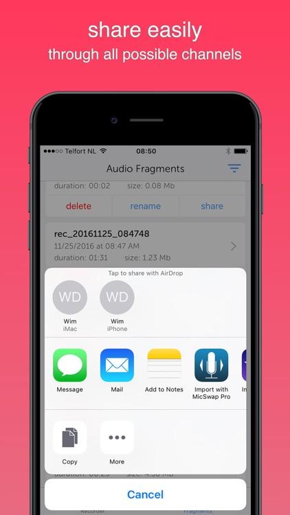 Instant Rec Lite: Audio Recorder & Voice Recording screenshot-4