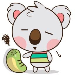 Kuruu the funny koala 2 for iMessage Sticker