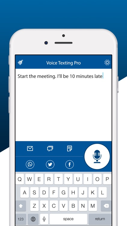 Voice Texting Deluxe screenshot-1