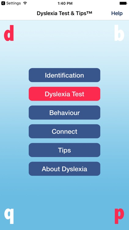 Dyslexia Test & Tips™ by Apps & Webs