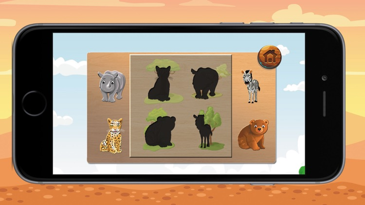 Little Animal shadows puzzle and Vocabulary