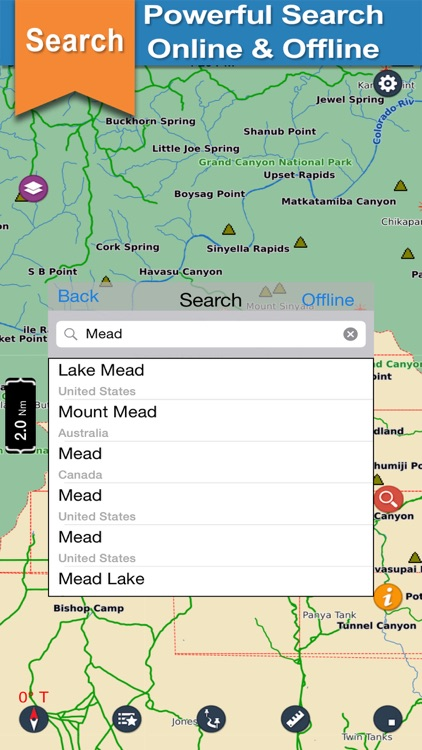 Mead - Grand canyon chart for lake & park trails screenshot-3